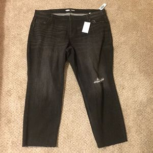 Old Navy The Power Distressed Raw Hem Jeans